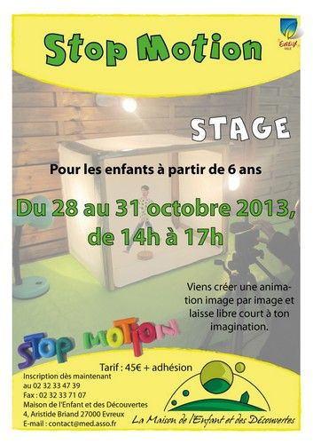 Affiche Stage StopMotion 2013