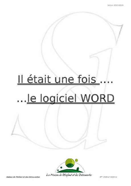 Support sur Word 1/10